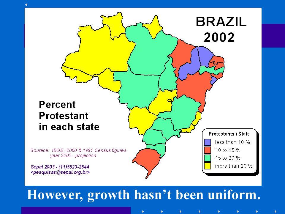 However, growth hasn't been uniform.