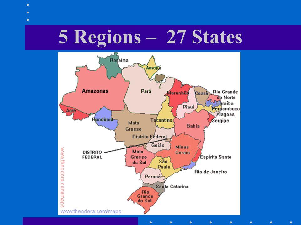 5 Regions – 27 States