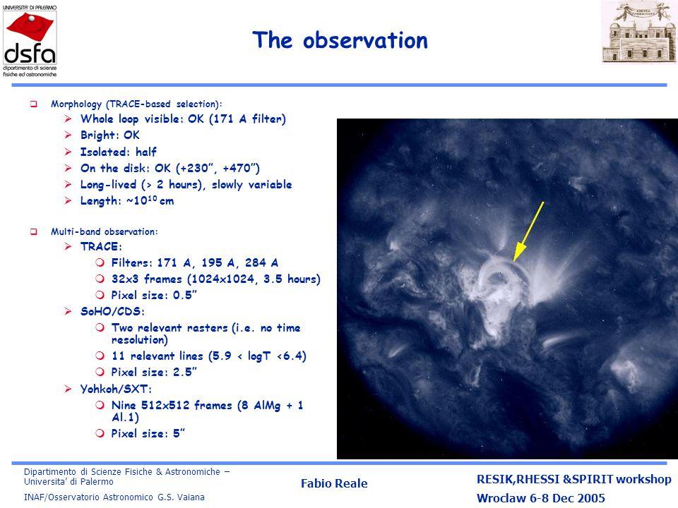 Dipartimento di Scienze Fisiche & Astronomiche – Universita' di Palermo INAF/Osservatorio Astronomico G.S.