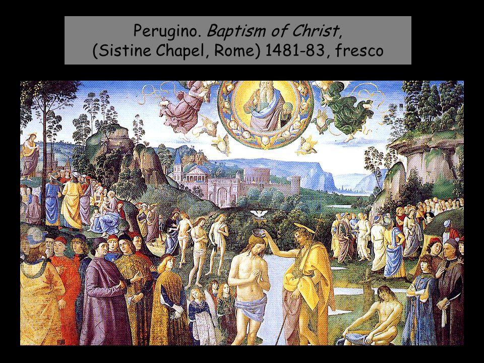 Perugino. Baptism of Christ, (Sistine Chapel, Rome) 1481-83, fresco