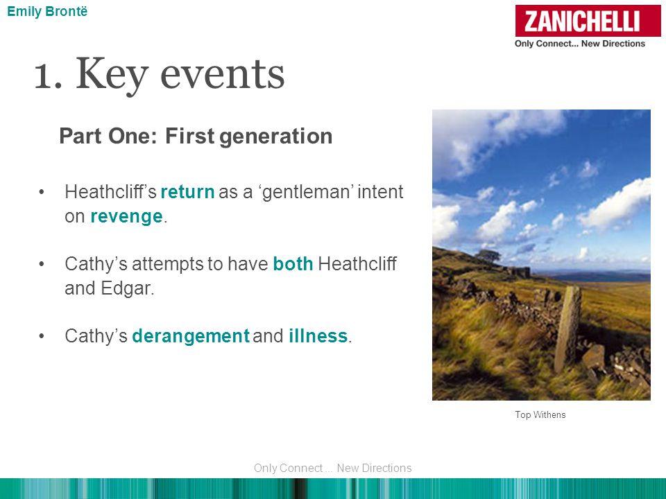 1. Key events Heathcliff's return as a 'gentleman' intent on revenge.