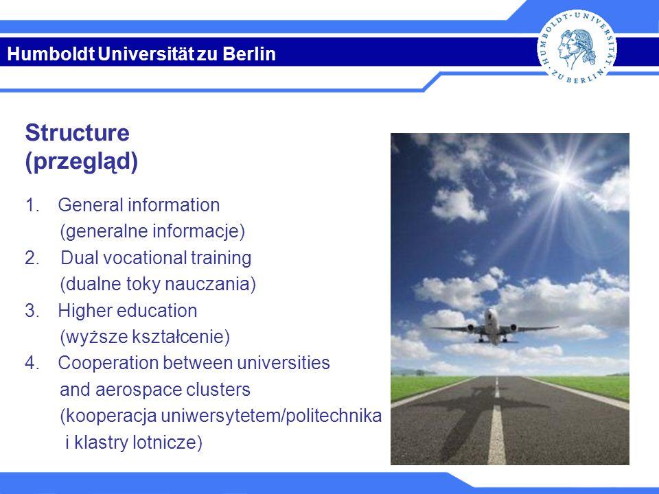 Humboldt Universität zu Berlin Key figures (ważne liczby) GermanyPoland Pupils (wychowanek)2013/1411,105 mn2012/135,272 mn Pupils per inhabitant (na głowę)2013/140.1382012/130.137 Apprentices (uczeń)20121,430 mn Apprentices per inhabitant (na głowę)20120.018 Students (student)2013/142,613 mn2012/131,676 mn Students per inhabitant (na głowę)2013/140.0322012/130.043 Education expenditure (wydatki na kształcenie), in % GDP (PKB) 20116.7 %20105.2 % Research expenditure (wydatki na badania), in % in GDP (PKB) 20112.84 %20110.77 % Sources: Federal Statistical Office 2014, Central Statistical Office of Poland 2014, World Bank 2014 1.
