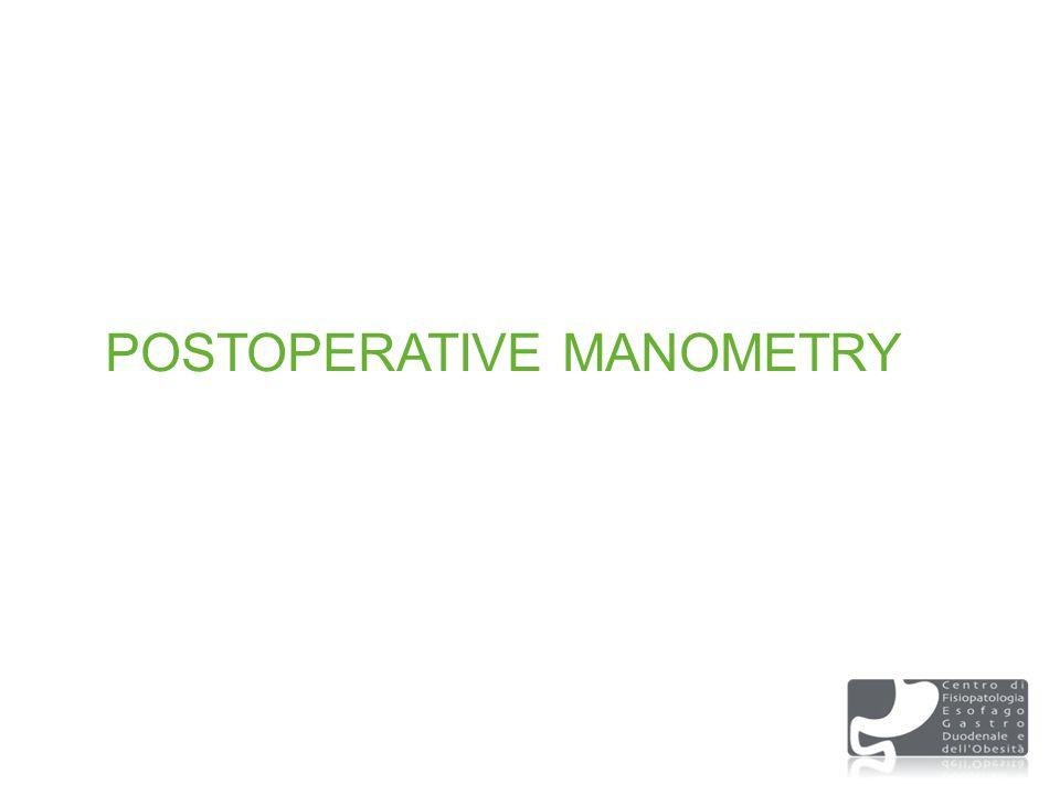 POSTOPERATIVE MANOMETRY