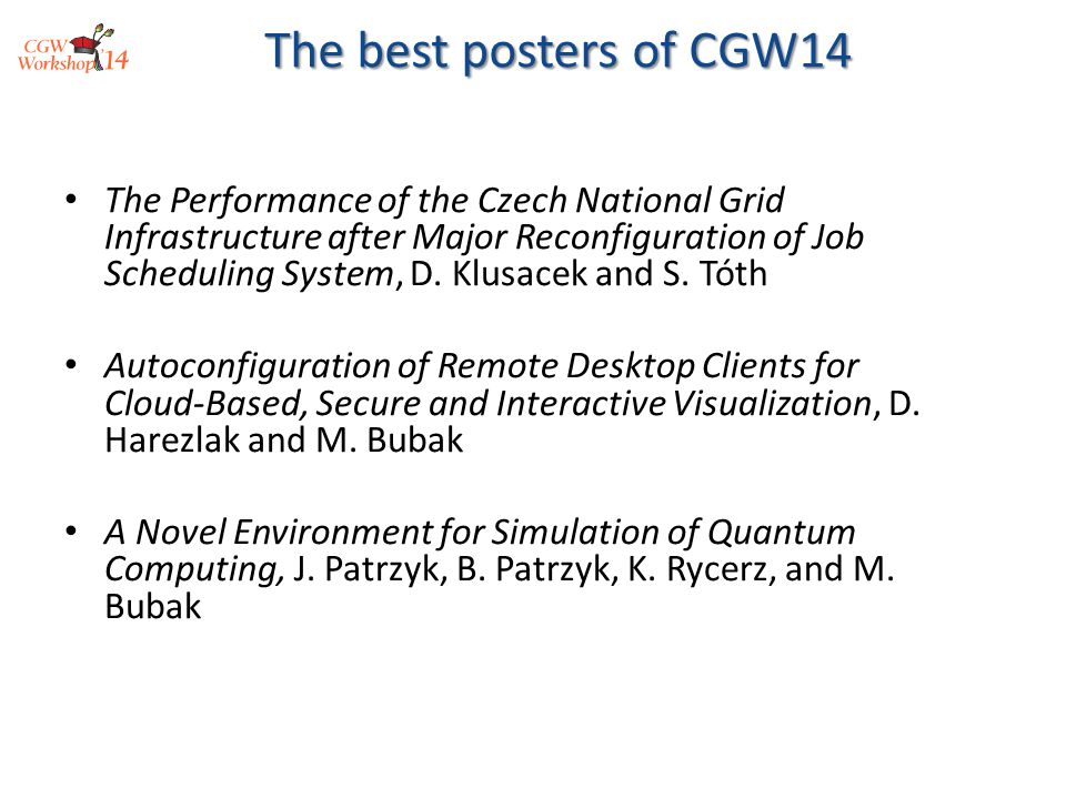 The Performance of the Czech National Grid Infrastructure after Major Reconfiguration of Job Scheduling System, D.