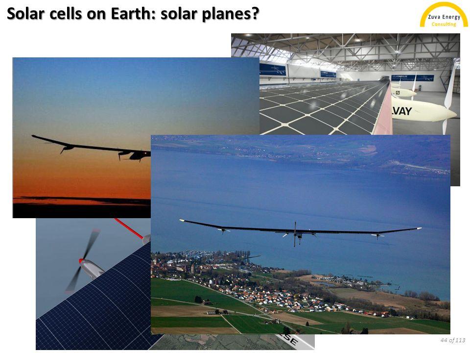 Solar cells on Earth: solar planes? 44 of 113
