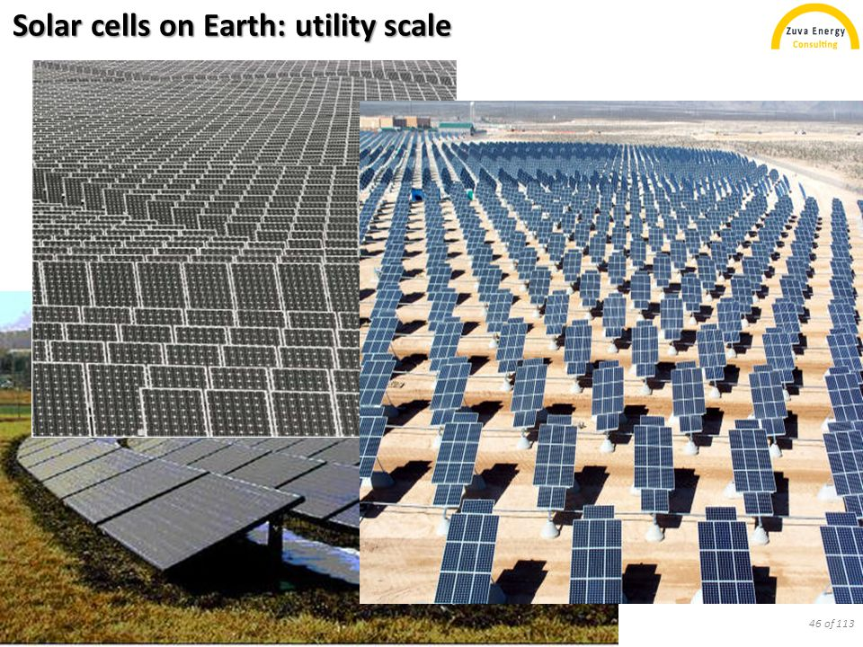Solar cells on Earth: concentration PV 47 of 113