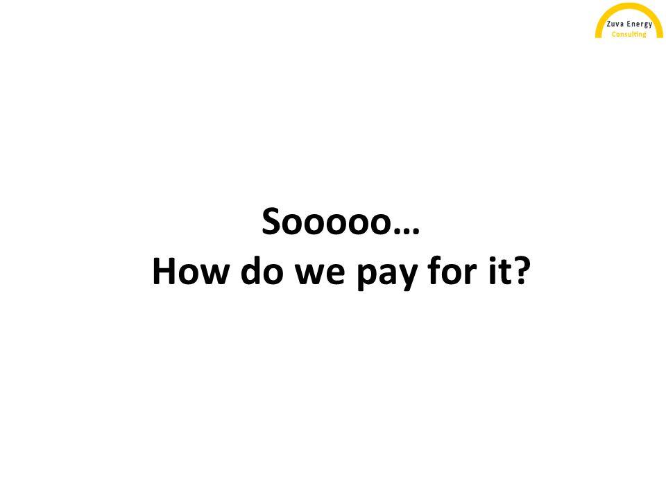 Sooooo… How do we pay for it?