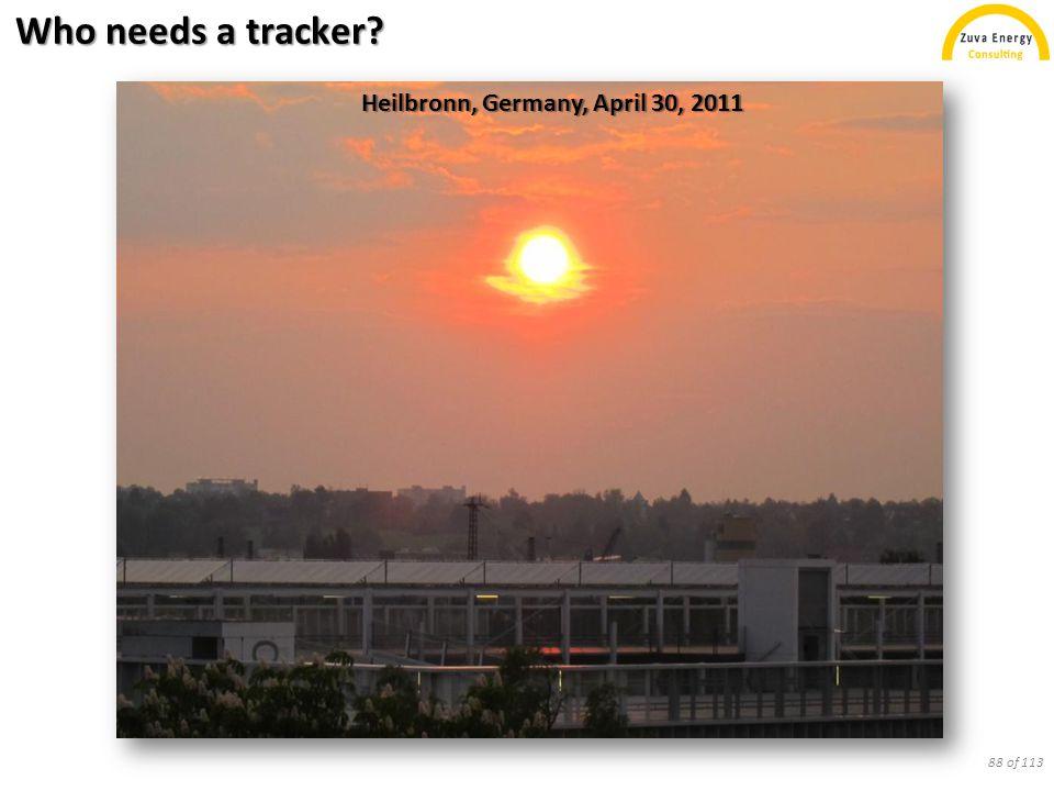 Who needs a tracker? Heilbronn, Germany, April 30, 2011 88 of 113