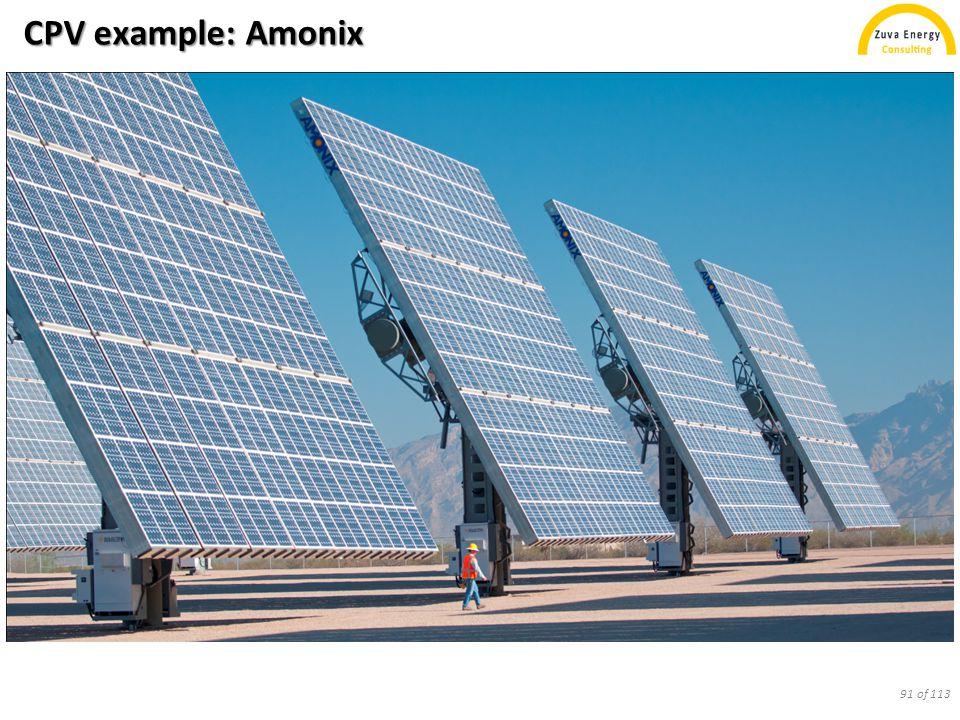 CPV example: Amonix 91 of 113