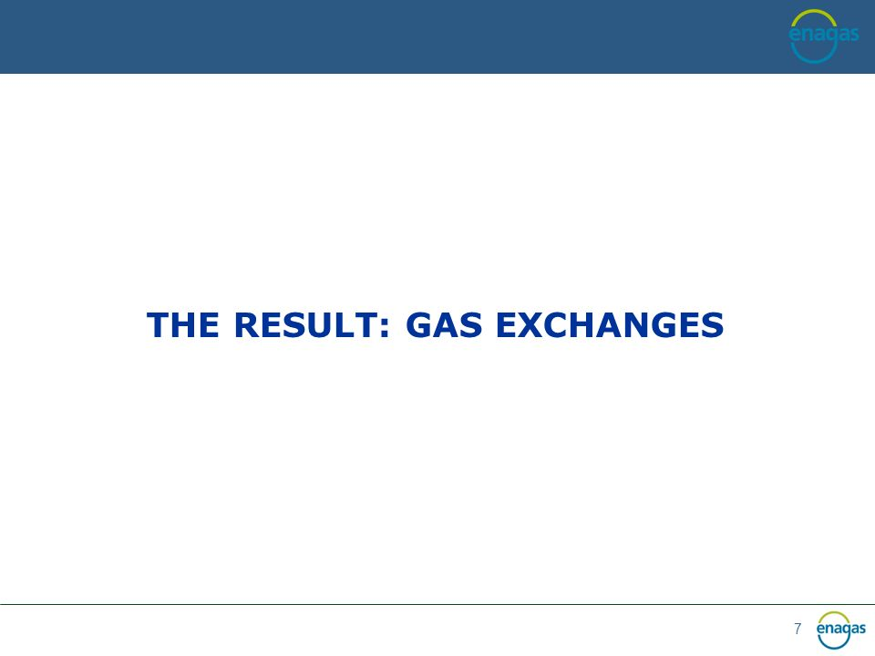 7 THE RESULT: GAS EXCHANGES