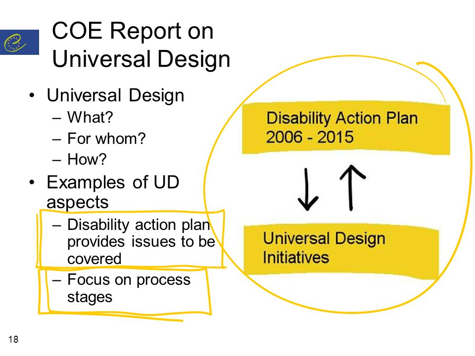 18 COE Report on Universal Design Universal Design –What.