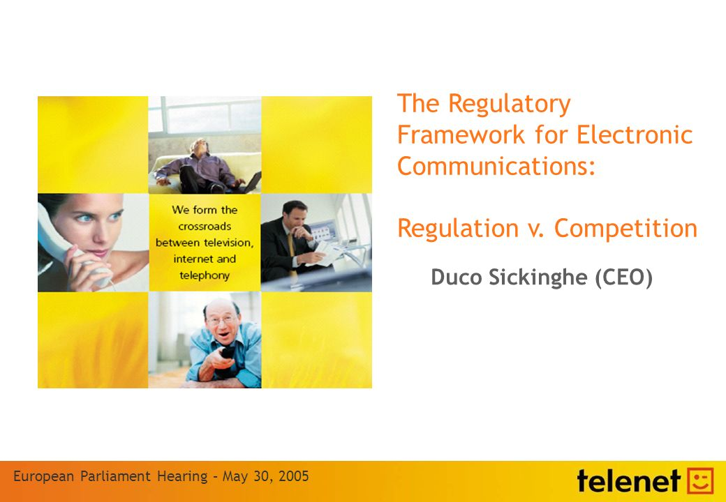 The Regulatory Framework for Electronic Communications: Regulation v.
