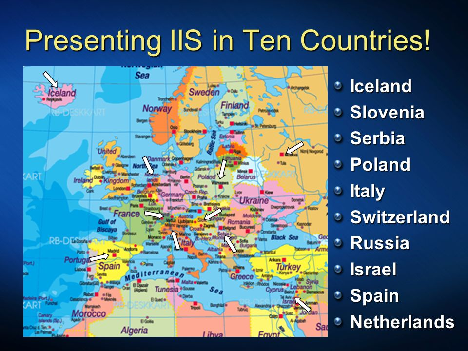Presenting IIS in Ten Countries.