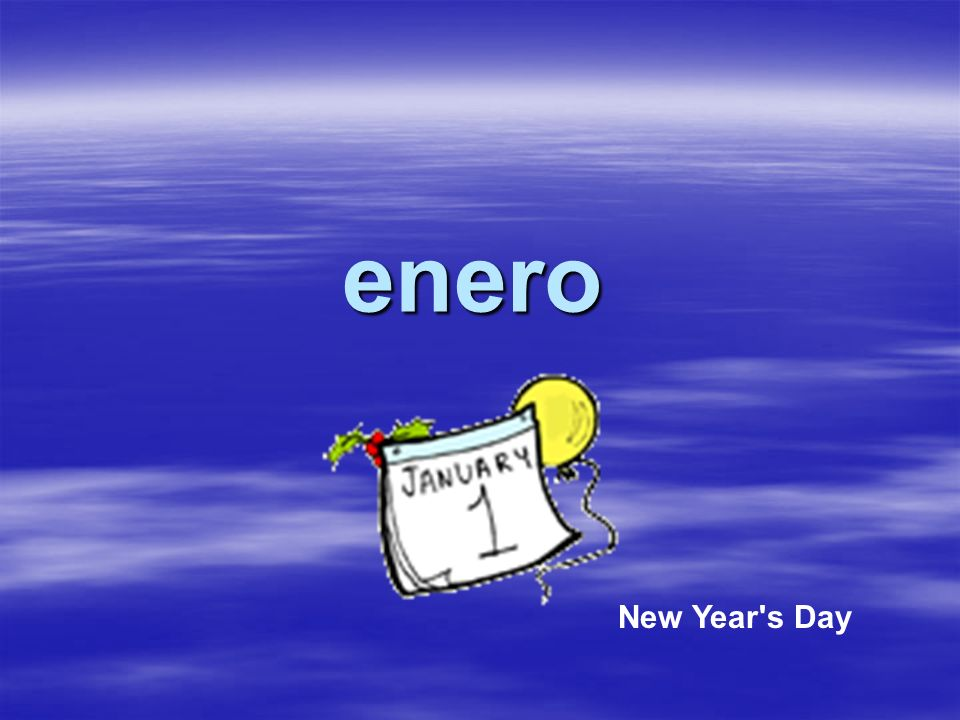 enero New Year s Day
