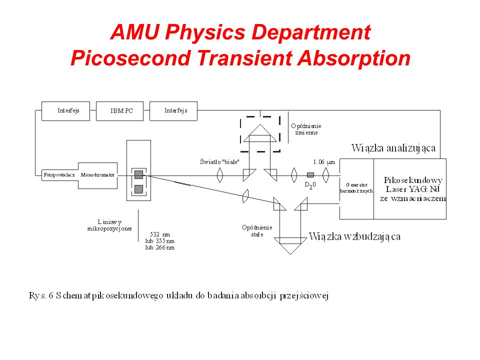 AMU Physics Department Picosecond Transient Absorption