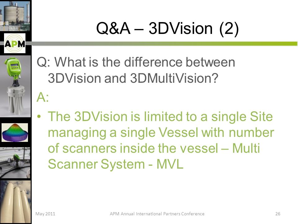 Q&A – 3DVision (2) Q: What is the difference between 3DVision and 3DMultiVision.