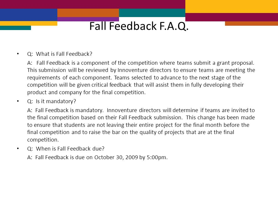 Q: What is Fall Feedback.
