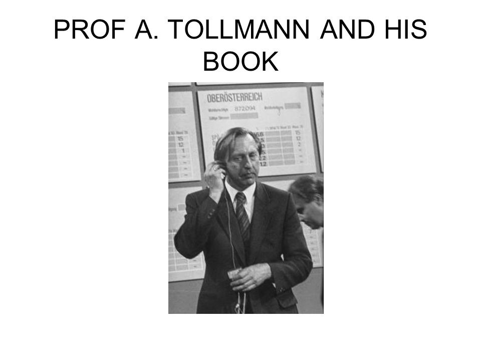 PROF A. TOLLMANN AND HIS BOOK
