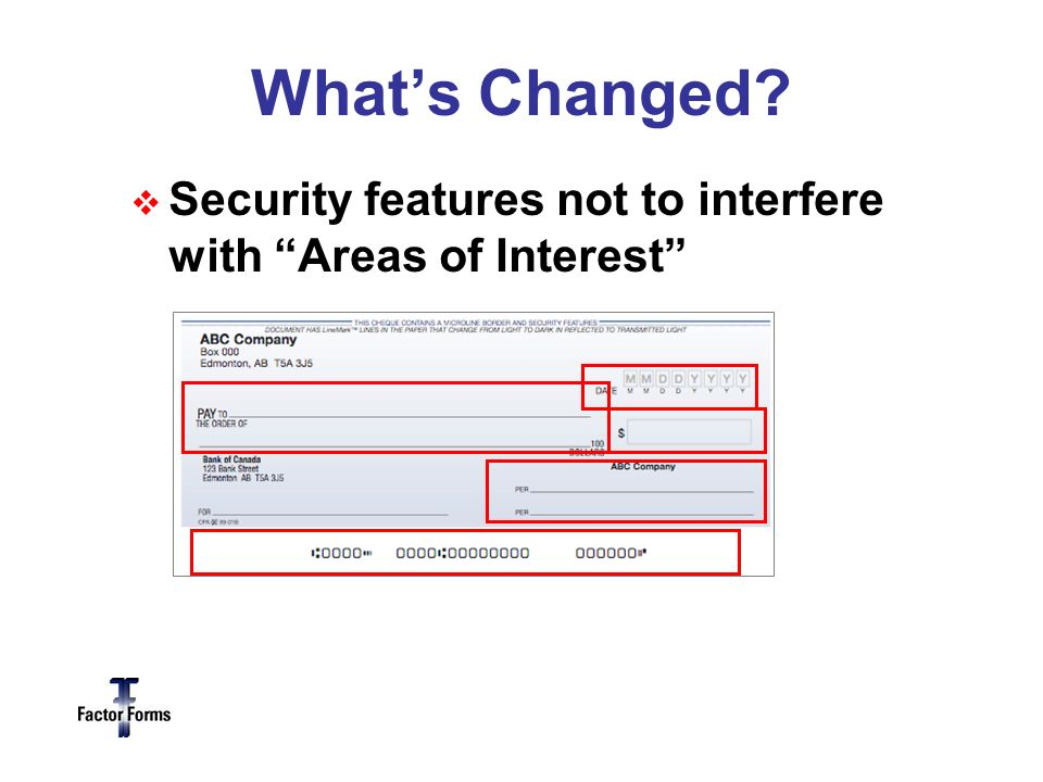 Whats Changed Security features not to interfere with Areas of Interest