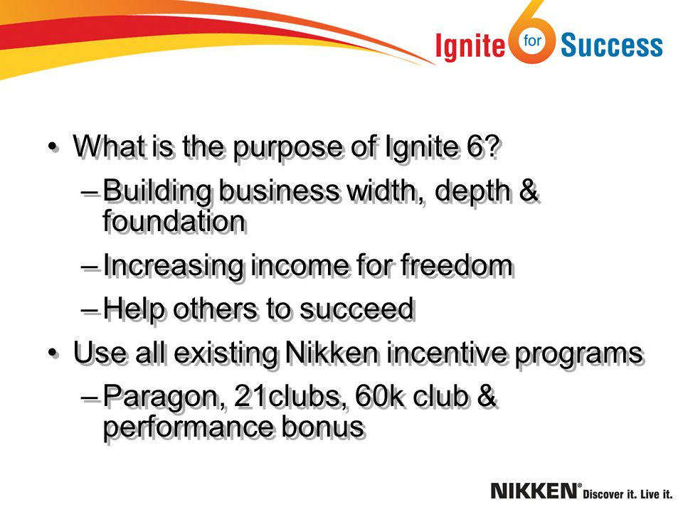 What is the purpose of Ignite 6.