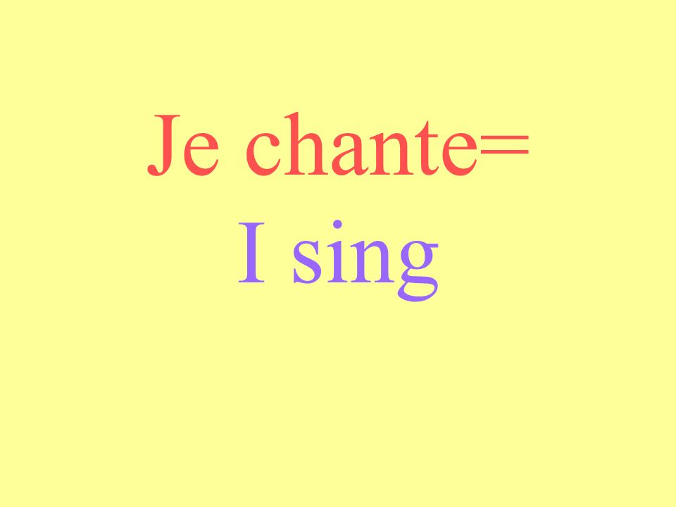 Nous chantons = We sing
