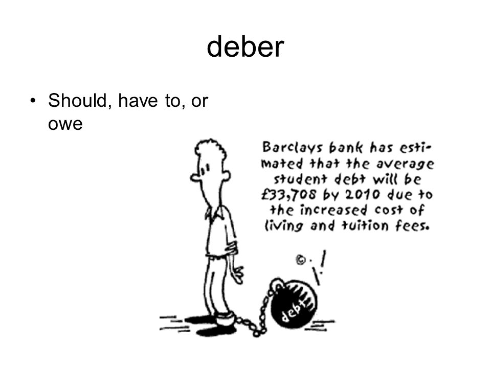 deber Should, have to, or owe