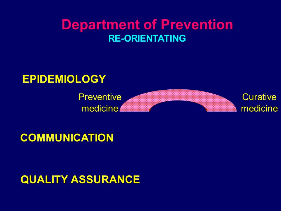 From control bureaucratic model... …to programming a plan for prevention What kind of prevention