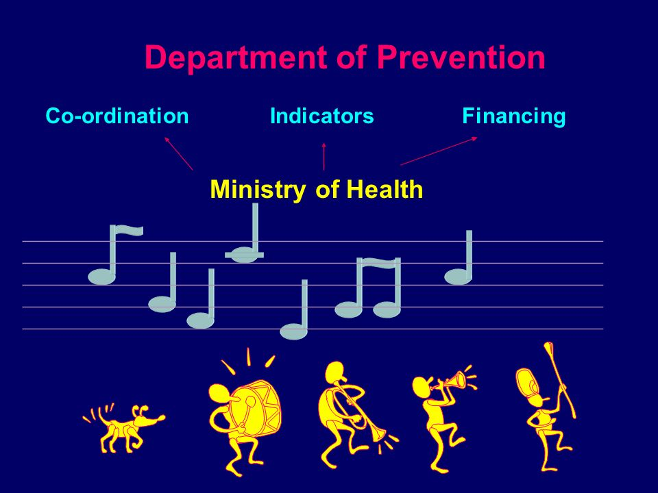 Department of Prevention RE-ORIENTATING EPIDEMIOLOGY COMMUNICATION QUALITY ASSURANCE Preventive medicine Curative medicine