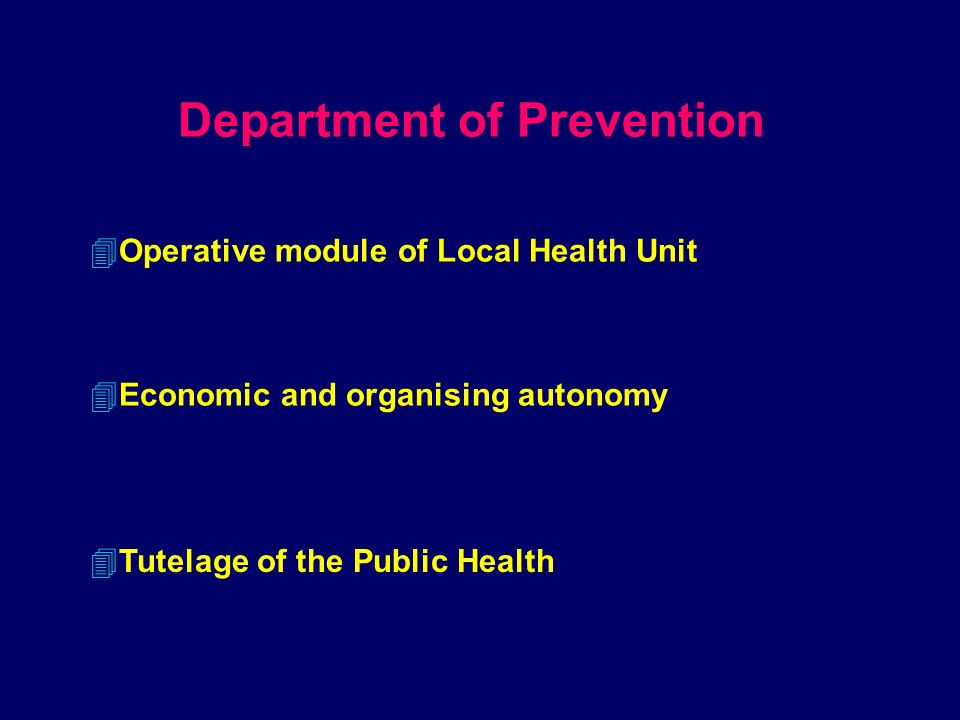 Local Health Unit Director General Director AdministrativeDirector Sanitary Social Services Manager Hospital Department of Prevention District Staff Hygiene and Public Health sanità animale Manufacturing hygiene...