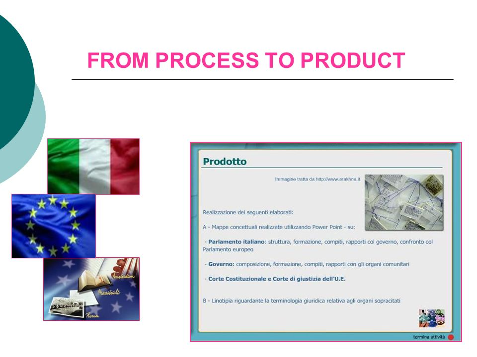 FROM PROCESS TO PRODUCT