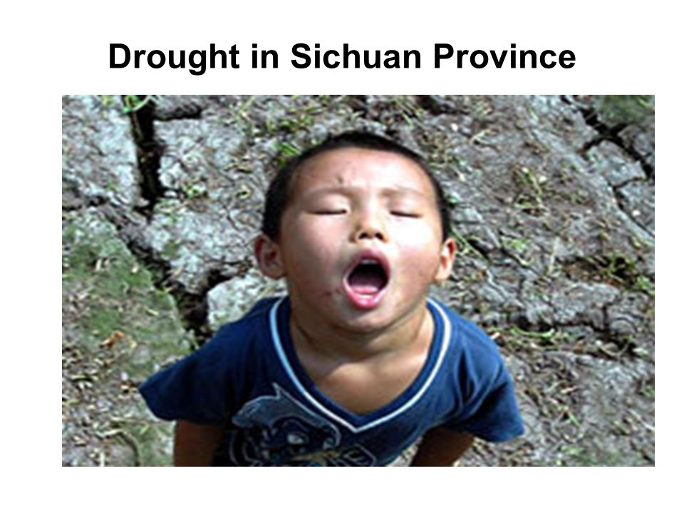 Drought in Sichuan Province