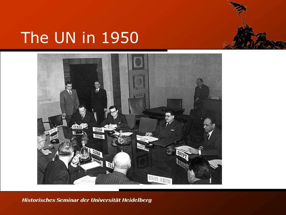 Historisches Seminar der Universität Heidelberg The UN in 1950