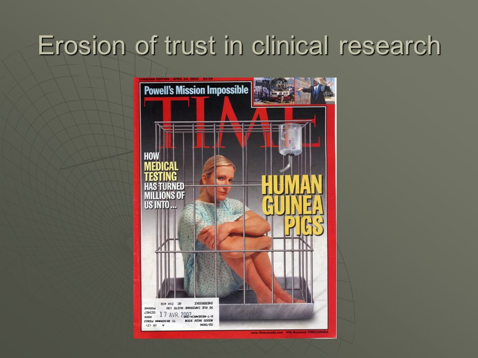 Erosion of trust in clinical research