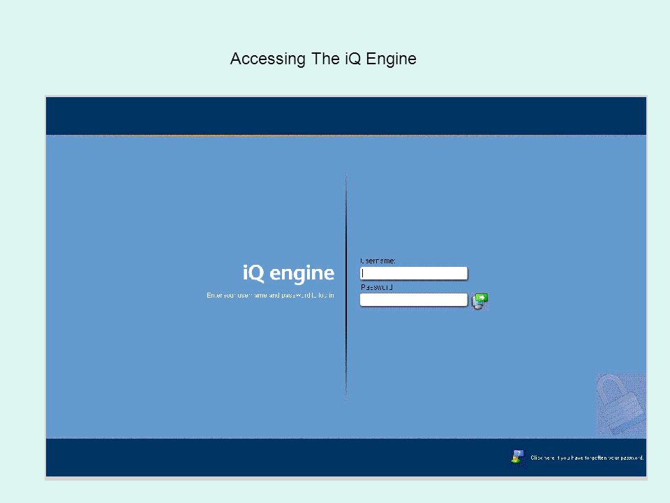 Quintessence Accessing The iQ Engine