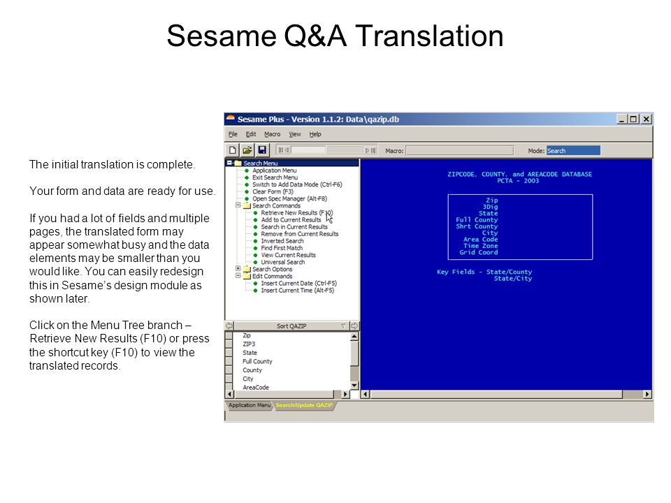 Sesame Q&A Translation The initial translation is complete.