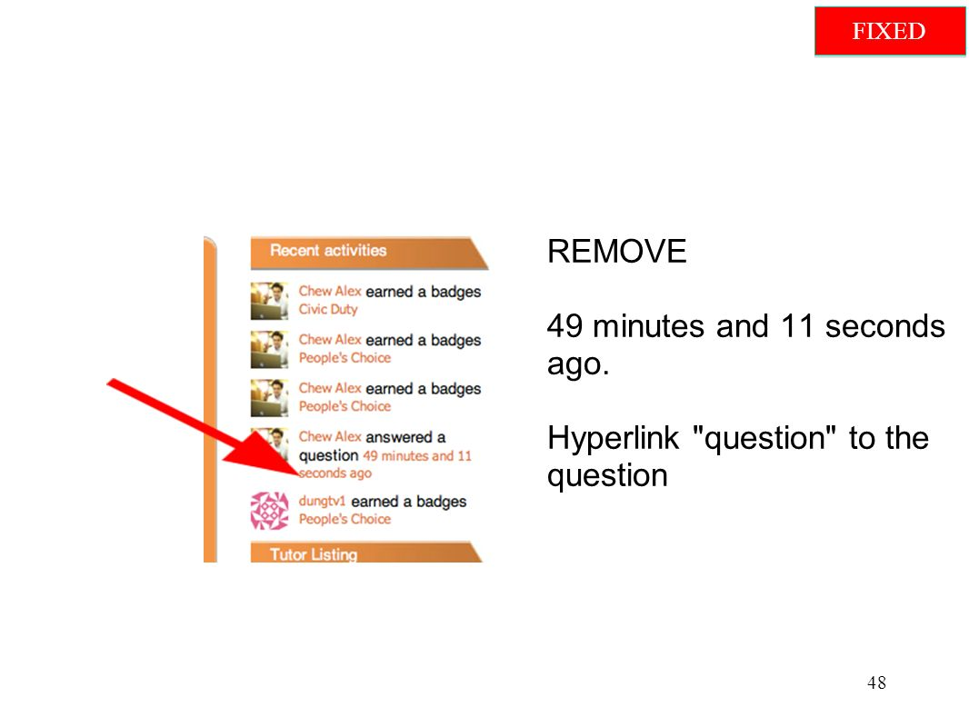 REMOVE 49 minutes and 11 seconds ago. Hyperlink question to the question 48 FIXED