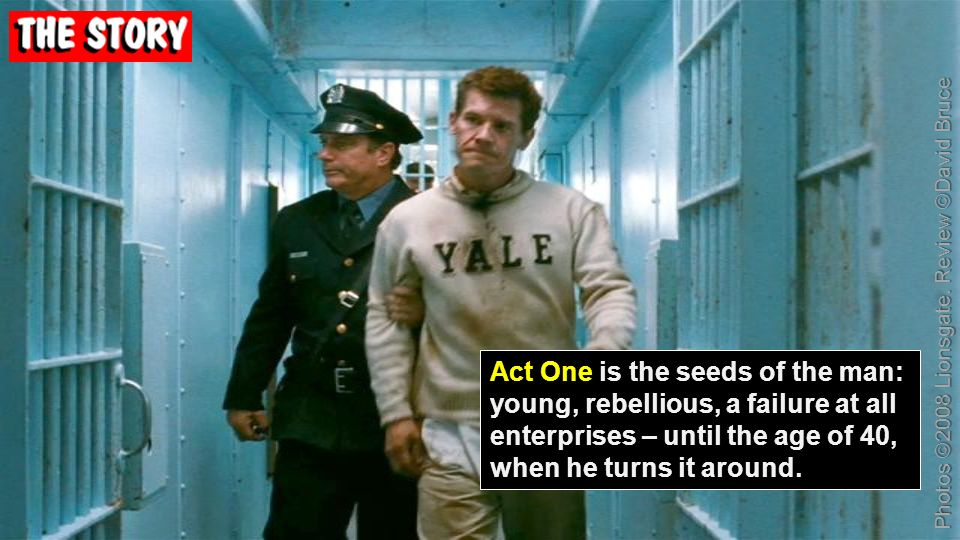 Act One is the seeds of the man: young, rebellious, a failure at all enterprises – until the age of 40, when he turns it around.