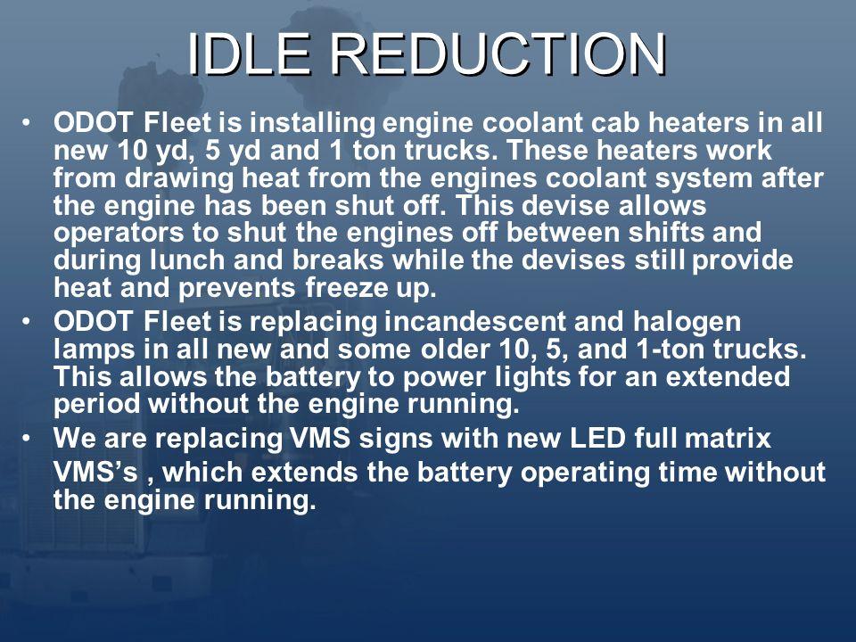 ODOT FUEL USAGE BENEFITS OF IDLE REDUCTION  Rudolf Diesel Rudolf