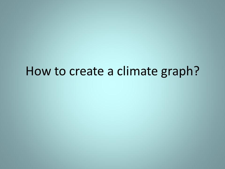 How to create a climate graph
