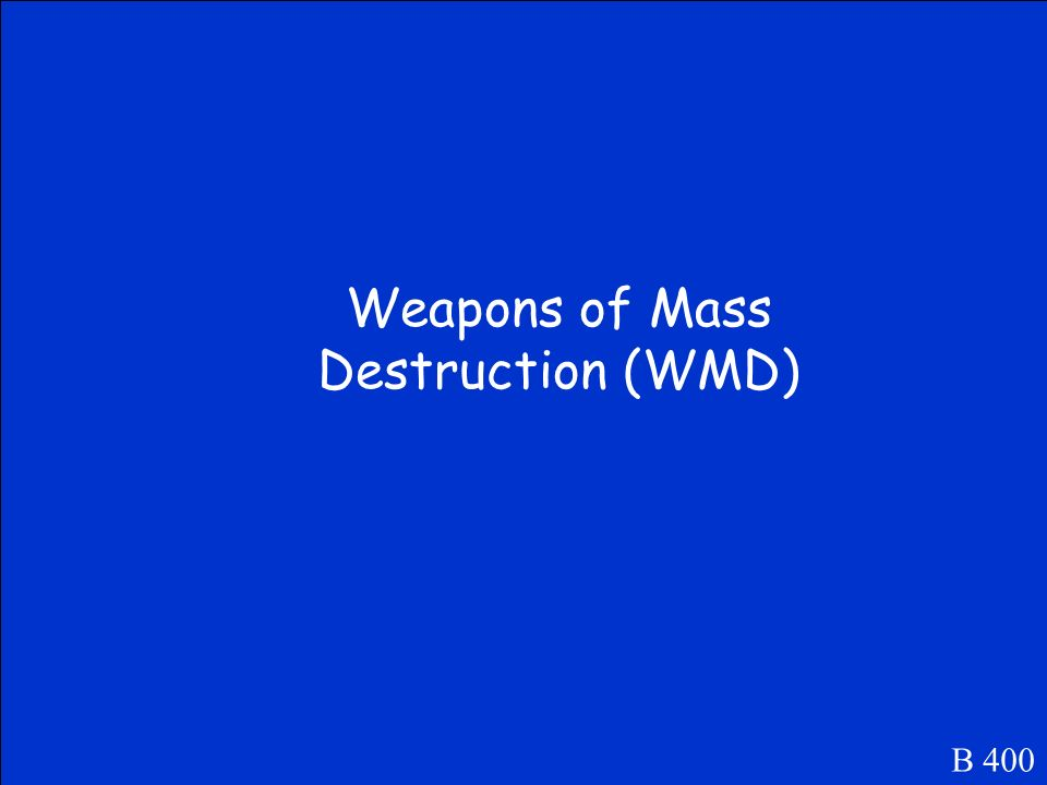 This is the term for a weapon which can kill millions of people.