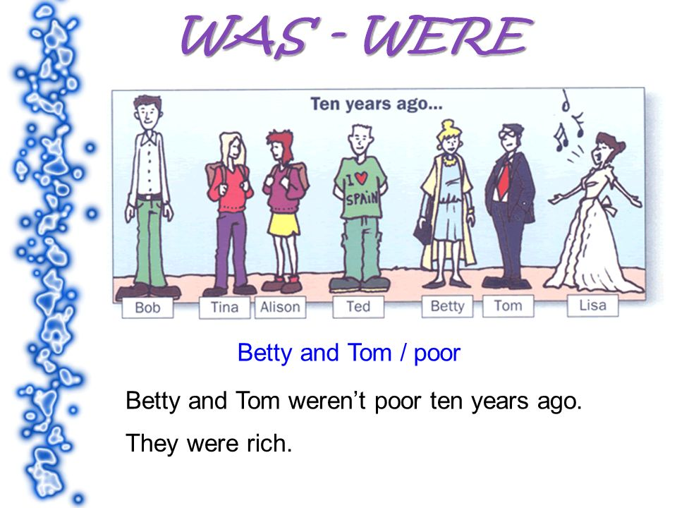 Betty and Tom / poor Betty and Tom werent poor ten years ago. They were rich.