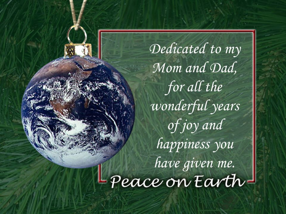 Dedicated to my Mom and Dad, for all the wonderful years of joy and happiness you have given me.