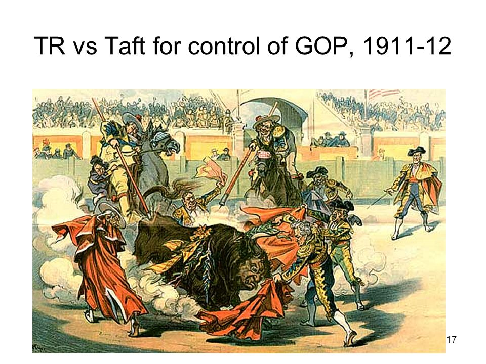 17 TR vs Taft for control of GOP,