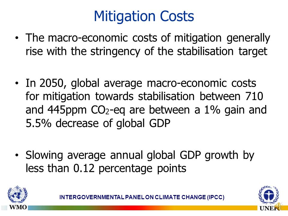 INTERGOVERNMENTAL PANEL ON CLIMATE CHANGE (IPCC) Economic mitigation potential by sector in 2030