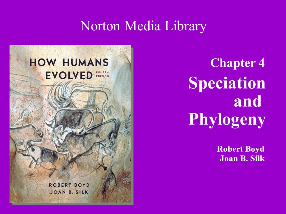 Chapter 4 Speciation and Phylogeny Norton Media Library Robert Boyd Joan B. Silk