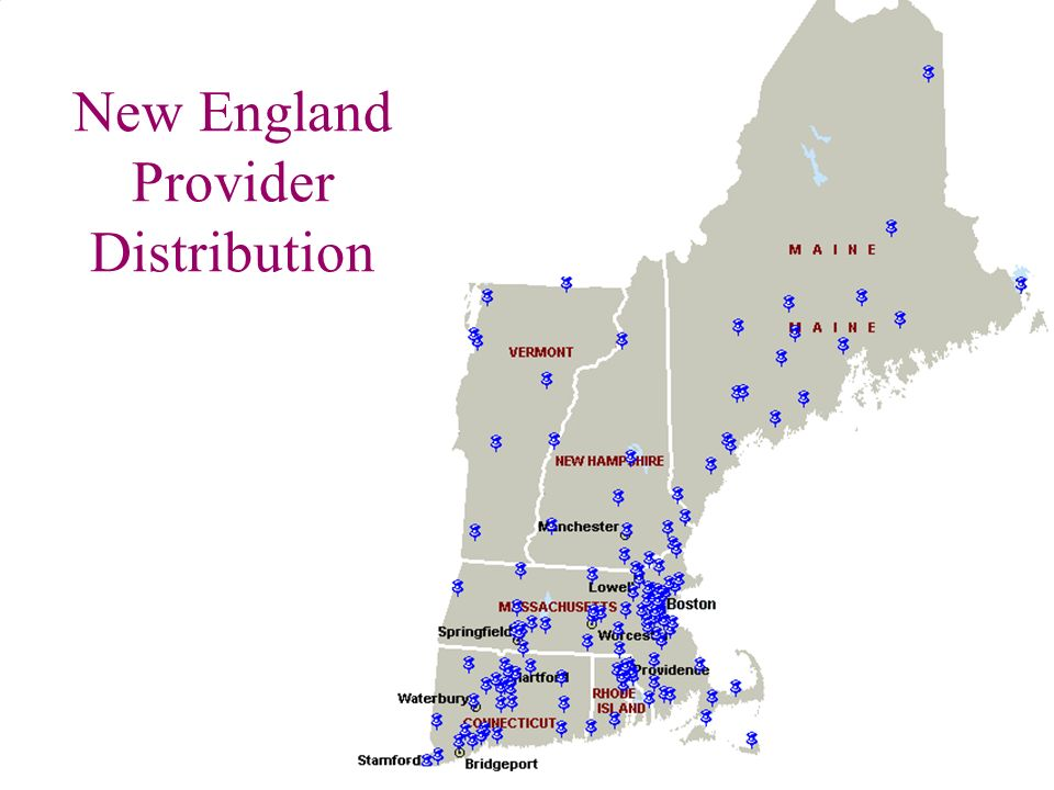 New England Provider Distribution