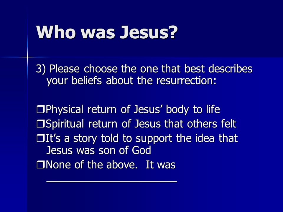 Who was Jesus.