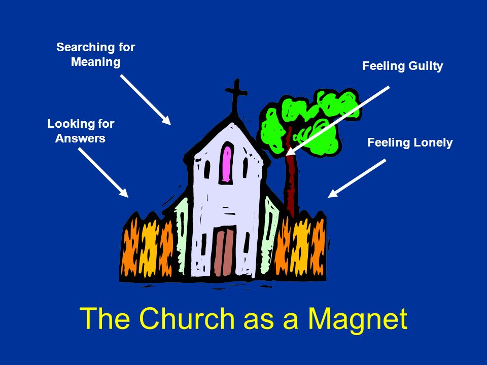 Searching for Meaning Looking for Answers Feeling Guilty Feeling Lonely The Church as a Magnet