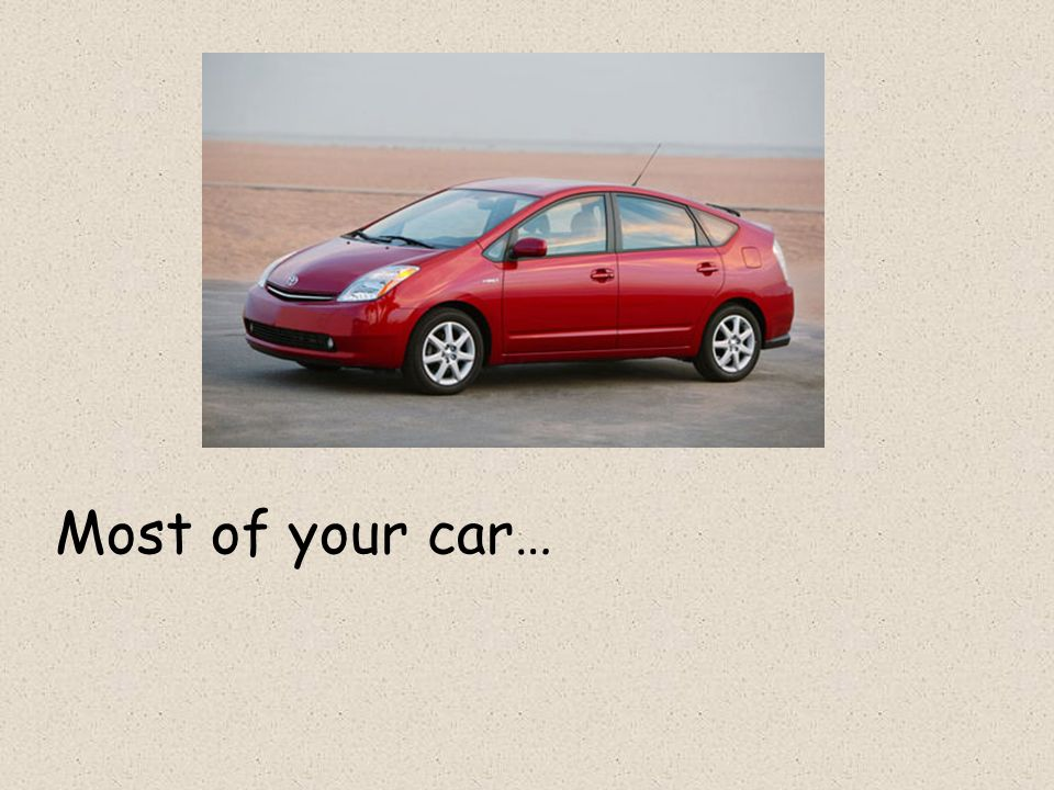 Most of your car…