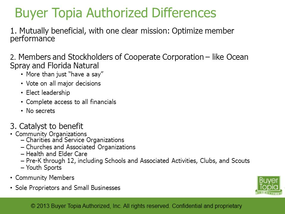 Buyer Topia Authorized Differences 1.